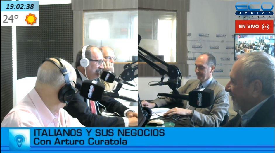 Alberto Príncipe participó del programa radial Italianos y sus Negocios