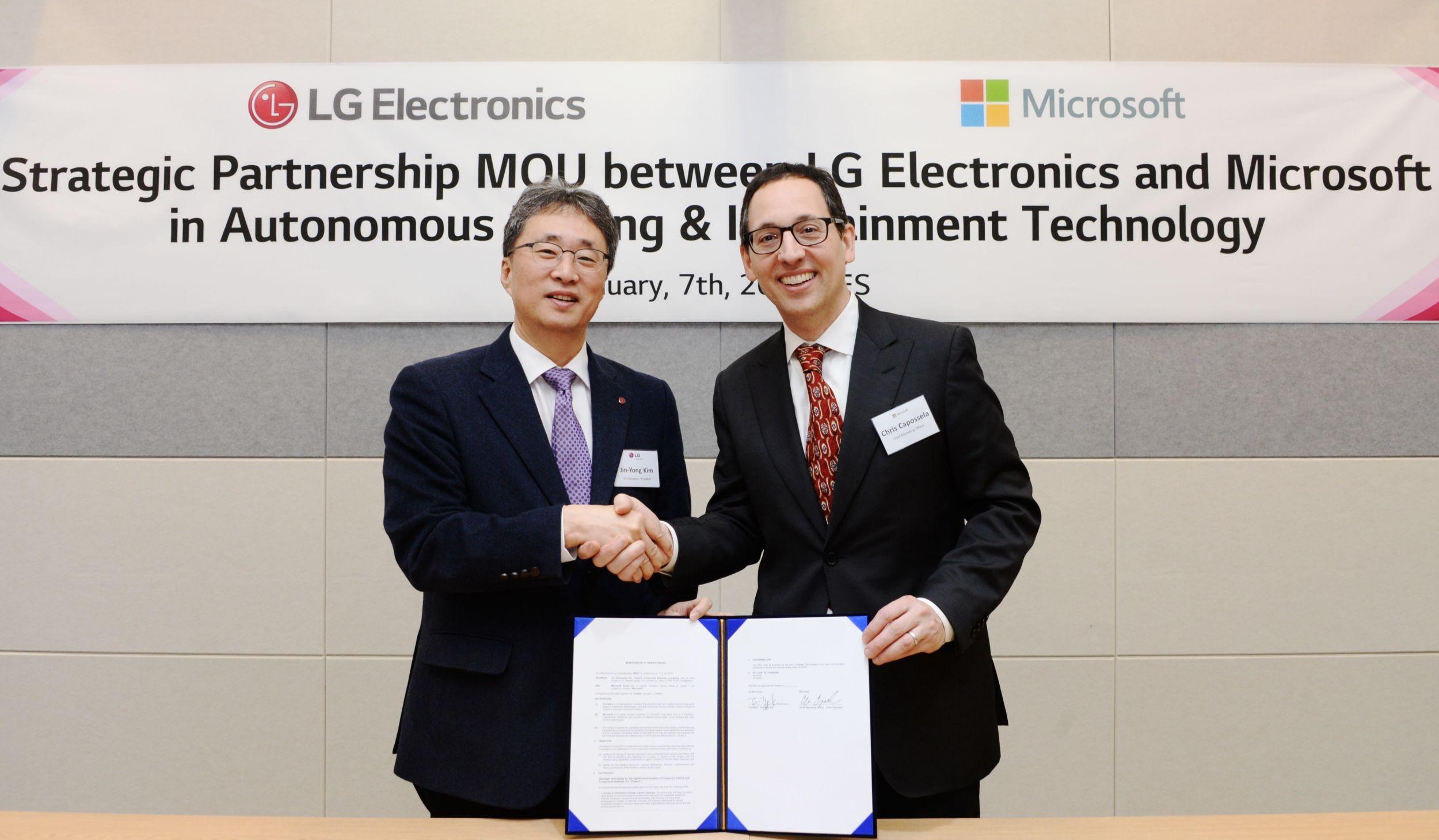 Acuerdo LG y Microsoft