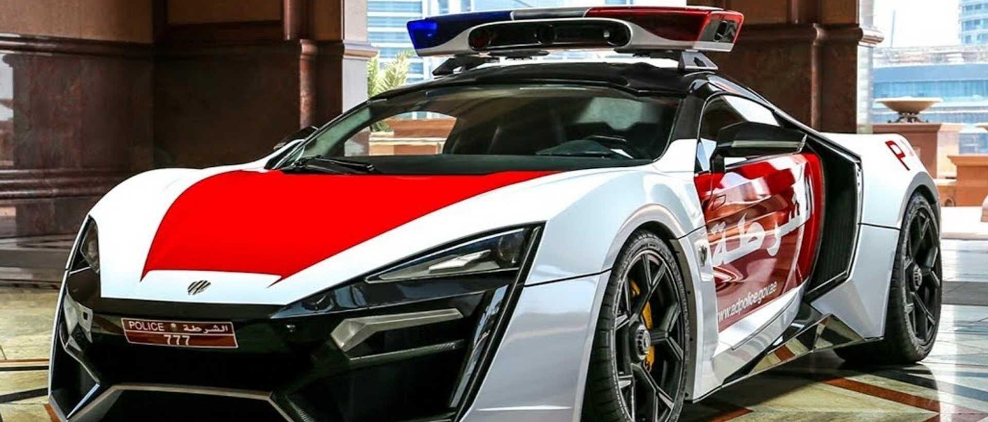 Un patrullero súper deportivo en Abu Dhabi