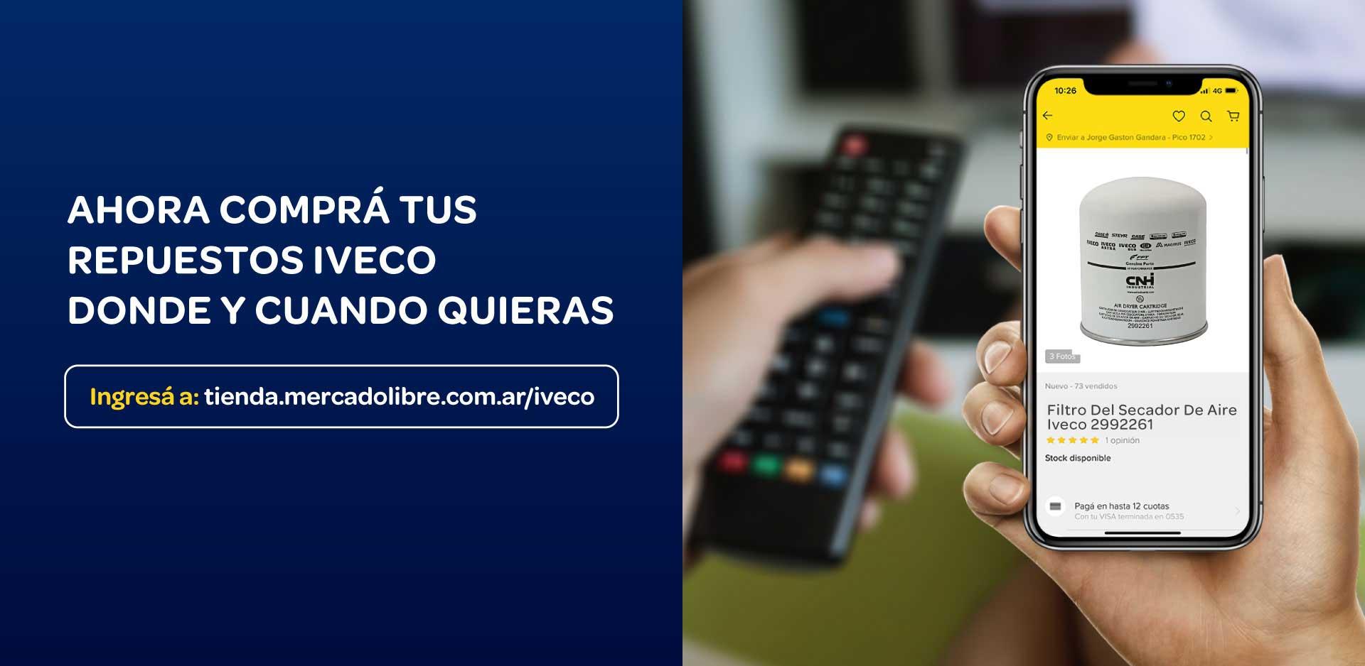 Plataforma e-Commerce de IVECO en Argentina