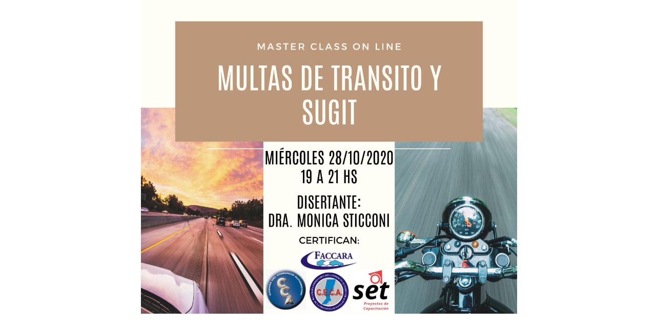 Master Class On Line: Multas de tránsito y SUGIT